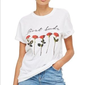 Topshop Best Buds Roses Graphic T-shirt